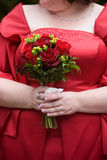 Disposizione di fiore del mazzo di cerimonia nuziale Immagine Stock Libera da Diritti