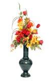 Disposizione di fiore di seta di colore di caduta Fotografia Stock Libera da Diritti