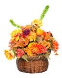Disposizione di fiore di seta di colore di caduta Immagini Stock Libere da Diritti