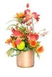 Disposizione di fiore di seta di colore di caduta Fotografia Stock