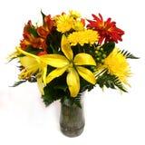 Disposizione di fiore su priorità bassa bianca #2 immagine stock