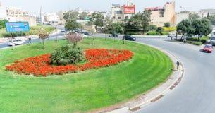 Disposizione di fiori e rotonde a Malta fotografia stock libera da diritti