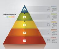 Disposizione di forma della piramide di punti dell'estratto 5 con spazio libero per il modello del testo del campione Vettore EPS Fotografia Stock Libera da Diritti