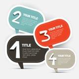 Disposizione di Infographics di punti della carta quattro royalty illustrazione gratis