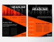 Disposizione di progettazione creativa dell'estratto dell'aletta di filatoio per l'affare in A4 illustrazione di stock