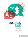 Disposizione di progettazione del fondo di concetto di discorso della bolla di conversazione di affari Immagini Stock