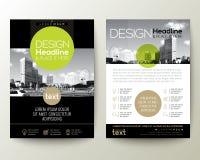 Disposizione di progettazione della copertura dell'opuscolo del pamphlet dell'aletta di filatoio del manifesto con il grafico di  royalty illustrazione gratis
