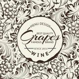 Disposizione di progettazione della lista di vino sulla lavagna. Vettore Fotografie Stock