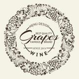 Disposizione di progettazione della lista di vino sulla lavagna. Vettore Immagine Stock