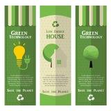 Disposizione di progettazione verde moderna di ecologia Fotografia Stock