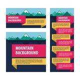 Disposizione di pubblicità del modello delle montagne Immagine Stock Libera da Diritti