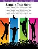 Disposizione di salto della gente Immagine Stock Libera da Diritti