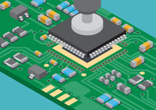 Disposizione di superficie di IC di tecnologia del supporto Fotografie Stock Libere da Diritti