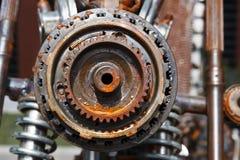 Disposizione di vecchi, ingranaggi arrugginiti Meccanismo arrugginito fantastico Steampunk fotografie stock libere da diritti