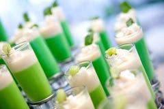 Disposizione di verde di vetro di colpo Fotografia Stock