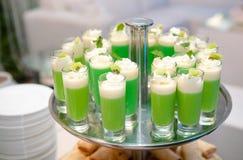 Disposizione di verde di vetro di colpo Fotografia Stock Libera da Diritti