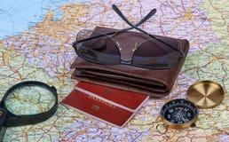 Disposizione di viaggio concetto di corsa Fotografia Stock