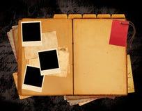 Disposizione di Web site del libro dell'annata Fotografie Stock
