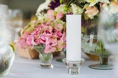 Disposizione floreale di nozze Fotografia Stock Libera da Diritti
