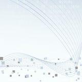 Disposizione geometrica di ciao-tecnologia di tecnologia Immagine Stock Libera da Diritti