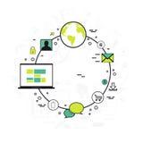 Disposizione infographic creativa del modello Fotografia Stock