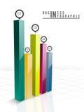 Disposizione infographic del modello di affari creativi Immagine Stock
