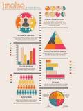 Disposizione infographic del modello di cronologia per l'affare Immagini Stock Libere da Diritti