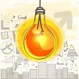Disposizione infographic del modello di idea Fotografie Stock Libere da Diritti