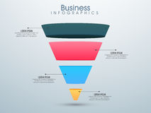 Disposizione infographic di affari Immagini Stock Libere da Diritti