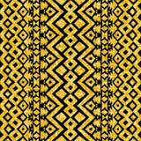 Disposizione messicana tribale azteca di scintillio dell'oro illustrazione vettoriale