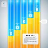 Disposizione moderna di infographics con 5 insegne verticali Fotografie Stock Libere da Diritti
