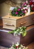 Disposizione per il funerale fotografie stock