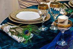Disposizione per la cena di nozze party-22 fotografia stock libera da diritti