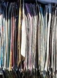 Disposizione piana dei LPs e dei vinili dell'annata per i collettori di musica Fotografie Stock Libere da Diritti