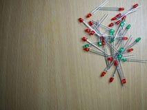 Disposizione piana del LED verde e rosso Fotografia Stock Libera da Diritti