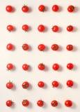 Disposizione piana di bello pomodoro ciliegia senza cuciture d'avanguardia del modello, clo Fotografie Stock Libere da Diritti