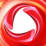 Disposizione rossa del testo di turbinio Fotografia Stock Libera da Diritti