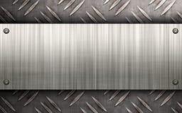 Disposizione spazzolata del metallo Fotografia Stock