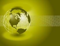 Disposizione verde di affari globali royalty illustrazione gratis