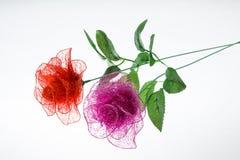 Disposizioni dei fiori di seta Fotografia Stock Libera da Diritti