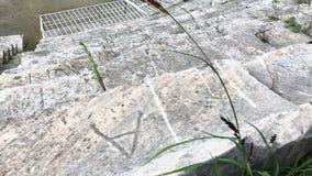 Disposizioni dei posti a sedere dello stadio del greco antico in magnesia Aydin Province, Turchia archivi video