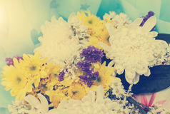 Disposizioni di fiori - pastello del mazzo di celebrazione delle rose della molla Fotografia Stock Libera da Diritti