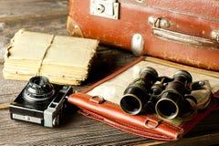 Disposizioni di viaggio d'annata immagine stock