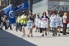 Disputa labour da biblioteca de Toronto Imagem de Stock