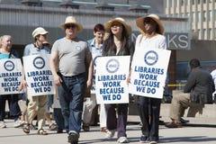 Disputa labour da biblioteca de Toronto Fotos de Stock
