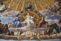 Disputation dell'affresco del sacramento santo Immagine Stock