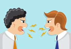 Dispute and conflict in the office Royalty Free Stock Images