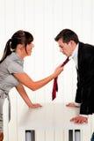 Dispute entre empregados no trabalho no escritório Imagens de Stock Royalty Free