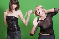 Dispute between girls Royalty Free Stock Images