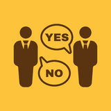 The dispute icon. Dialog and  negotiation, discussion symbol. Flat Stock Images